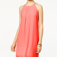 BCX Juniors' Scalloped Halter Dress - Juniors Dresses - Macy's