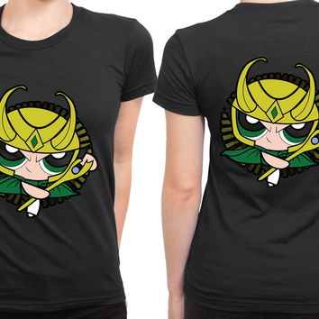 The Asgardian Girl Powerpuff 2 Sided Womens T Shirt