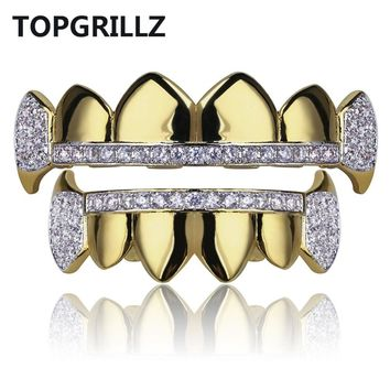 Top & Bottom Vampire Fangs Grillz