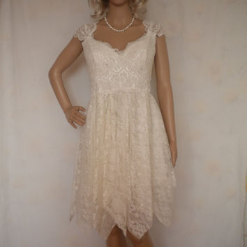 short baby doll wedding dress beach romantic garden wedding gown flowing layers made to order made to order