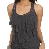 Lace Tiered Tank | Shop Tops at Wet Seal