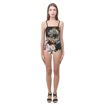 Dragon Design 1 Women's Slip One Piece Swimsuit