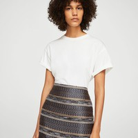 Geometric embroidery skirt - Women | MANGO USA