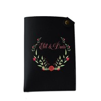Cute Floral Fame Pocket Customized Cute Leather Passport Holder - Passport Covers - Passport Wallet_SUPERTRAMPshop
