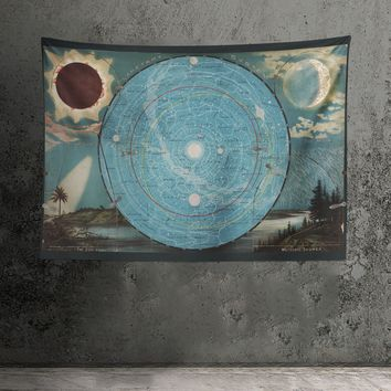 Planetary System - Eclipse of the Sun - The Moon - Meteoric Shower - Zodiacal Light Tapestry