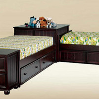 Brooklyn Twin Size Corner Unit Beds
