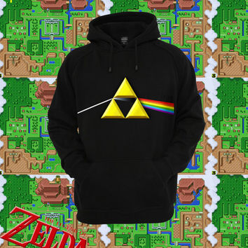 UNISEX Link Floyd Dark Side Of The Moon Triforce Hoodie // fASHLIN