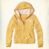 Girls Lace Applique Logo Graphic Hoodie | Girls Tops | HollisterCo.com