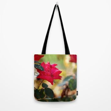 Raindrops Keep Falling Tote Bag by Theresa Campbell D'August Art