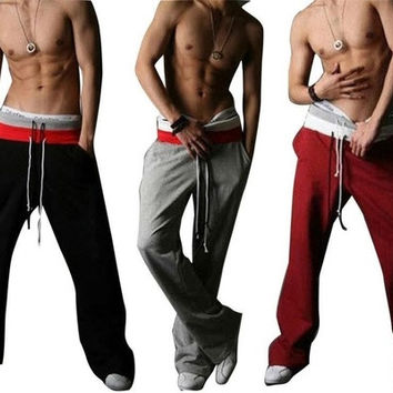 Men Casual Sport Sweat Pants Harem Training Dance Baggy Jogging Trousers [9221781956]