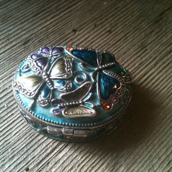 Monet Pill Box by 4uvintage on Etsy