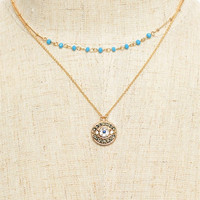 Round Evil Eye Layered Necklace