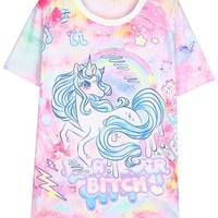 Unicorn Pattern Tee
