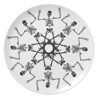 Skeletons Dinner Plates