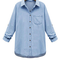 Light Blue Classic Denim Shirt