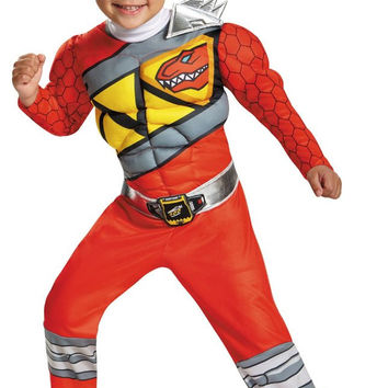 power rangers dino charge: red ranger muscle toddler costume | small (2t)