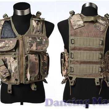 Tactical vest Utility Safety Black US navy seal modular load swat assault Military Airsoft Combat hunting police gun holster [variant: 4 ]