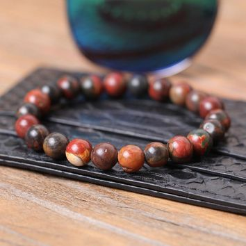 stone bracelet/natural stone/men/white/multicolore/Rose Quartzs/Beaded/Yoga/Fashion/bracelets for women Pulseira Masculina
