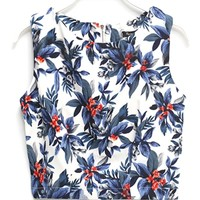Retrofit Floral Cropped Top - OASAP.com