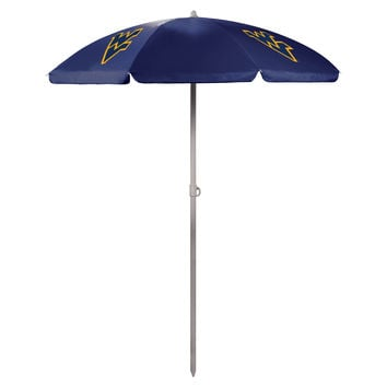 5.5' Portable Beach/Picnic Umbrella - West Virginia Mountaineers