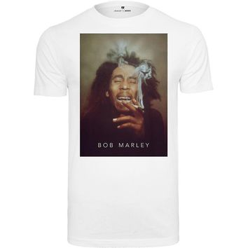 Merchcode shirt - BOB MARLEY SMOKE white