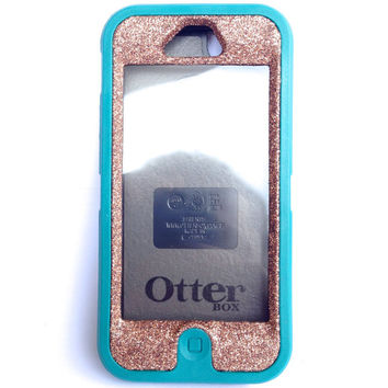 OtterBox Defender Series Case iPhone 5 Glitter Cute Sparkly Bling Defender Series Custom Case Teal / Sunstone