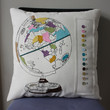 $60.00 Paint by Number Globe Pillow by dirtsastudio on Etsy