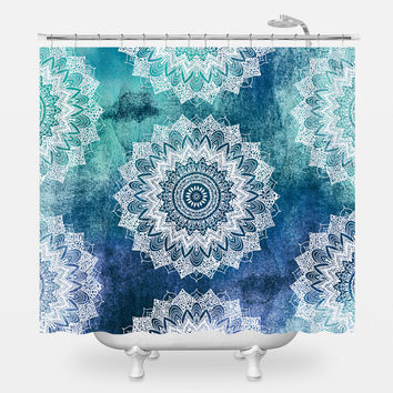 Boho Chic Mandalas Shower Curtain