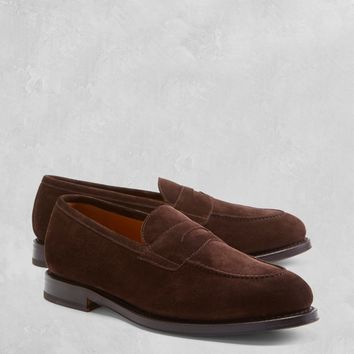 Golden Fleece® Suede Penny Loafers - Brooks Brothers