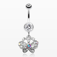 Charming Butterfly Belly Ring