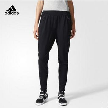 """""""Adidas"""" Women Solid Color Zip Stitching Casual Long Pants Sweatpants"""