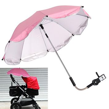 Umbrella Stroller Cane Nylon Sun Canopy Bebek Arabasi UV 360 Degree Adjustable Direction Baby Carriages Stroller Accessories