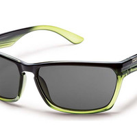 Suncloud - Cutout Green Fade Sunglasses, Gray Polarized Lenses