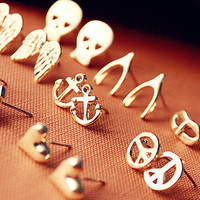 Cute Heart, Skullie, Bow, & Wings Earrings
