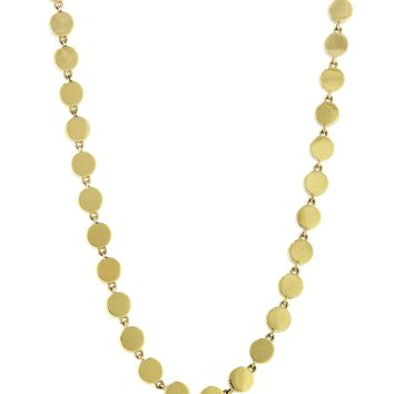 Mini Disc Link Necklace - Yellow Gold