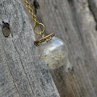 Make A Wish Dandelion Orb Necklace from Lil' Pixie Charms