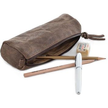 #60819 Waxed Canvas Pencil Case