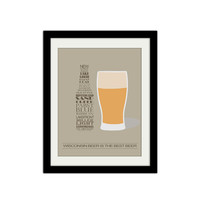 Wisconsin Beer is the Best Beer. Wisconsin Breweries. Wisconsin Beer. Wisconsin Beer Companies. Beer Print. 8.5x11""