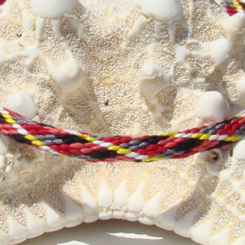 Argyle pattern friendship kumihimo bracelet with or without purchased magnetic clasp-- your choice