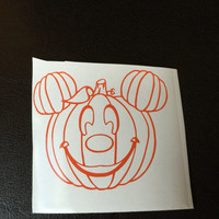 Mickey Ear Pumpkin Decal Any Color Any Size Halloween Disney Lover