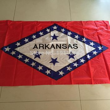 2015 New fashion 90*150 cm Arkansas  United State American Banner Office/Activity/parade/Festival/Home Decoration