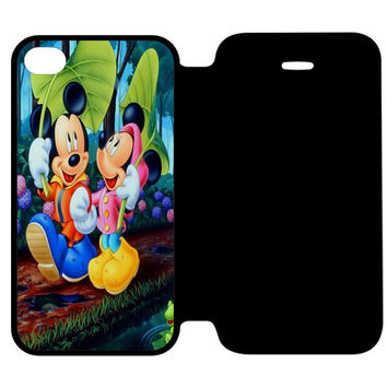 Romantic Mickey Mouse and Minnie Mouse Japanese iPhone 4 | 4S Flip Case Cover