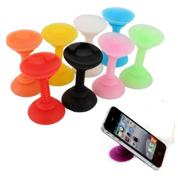 Fashion Silicone Double Sided Suction Cup Phone Holder Sucker Stand For Mobile Phones