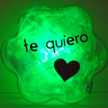 GlowFlower (Spanish) -unique, cool, gift for her, gift for him, valentine's day