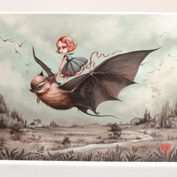 The Wanderlings - Limited Edition signed numbered 8x10 pop surrealism lowbrow Fine Art Print by Mab Graves -unframed