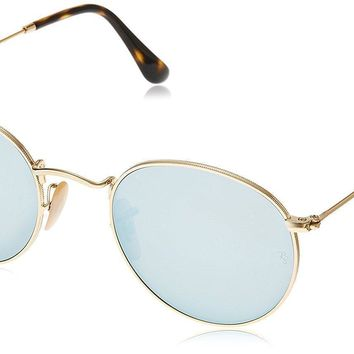 Ray-Ban Men's RB3447N Round Metal Sunglasses