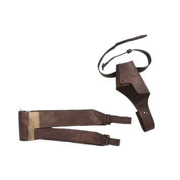 Xcoser Star Wars Episode VIII: The Last Jedi Rey Brown PU Belt & Holster Leather Cosplay Props