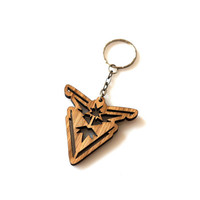 Instinct Team Oak Wood Keychain Pokemon GO Wooden Keyring Laser Cut Gift Laser Etched and Engraved The Best Gift for Her for Him