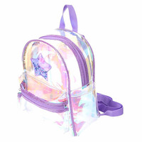 Purple Clear Shaker Backpack