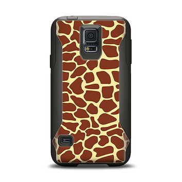 The Simple Vector Giraffe Print Samsung Galaxy S5 Otterbox Commuter Case Skin Set